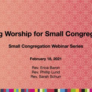 Sharing Worship for Small Congregations