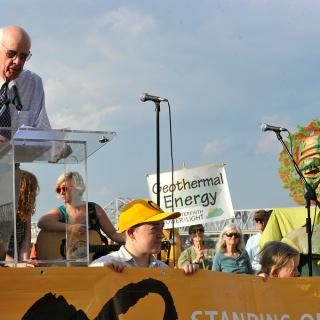Wendell Berry speaks at the 2013 General Assembly Public Witness Event: Where is Our Energy?