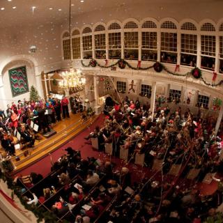 Holiday concert at First Parish in Bedford, MA.