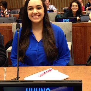 Alley, UUFH's first youth envoy at the UN Headquarters