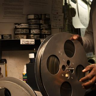 Raymond Atterson, projectionist at Film Forum, New York, N.Y.