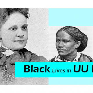 Historical images of black UUs, organized left to right