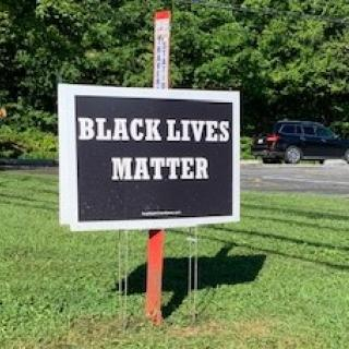 We UUFellowship Of Hendersonville NC added a BLM sign to our campus