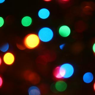 Colorful Christmas lights, out of focus