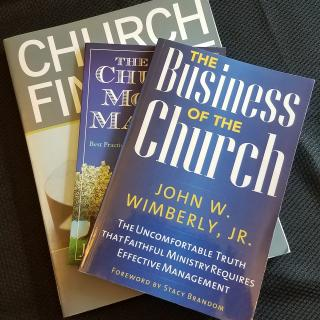 Photo of books on church finance
