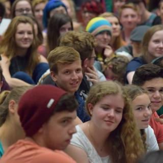 Crowd shot of youth at General Assembly 2015