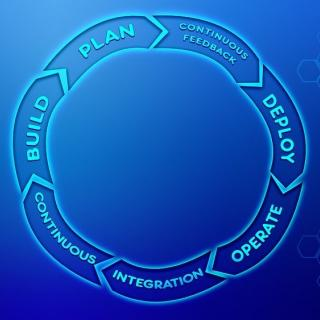 A feedback loop saying plan, feedback, deploy, operate, integration, build, back to plan