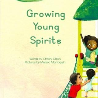 "Book cover illustration by Melissa Marroquin for ""Growing Young Spirits"" by Christy Olson"