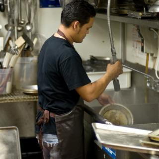 iStock_000007092616Small hispanic dishwasher in restaurant