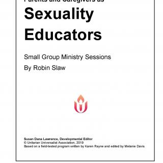 title page for the program, Parents and Caregivers as Sexuality Educators