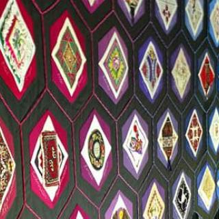 Photo of the Quilt of Belonging at the 2018 Parliament of the World's Religions in Toronto