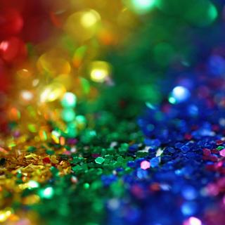 a rainbow array of shiny glitter flakes