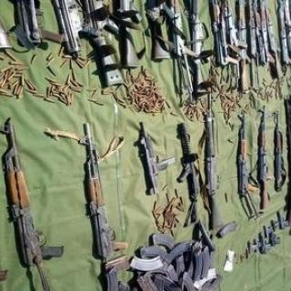 A collection of weapons and ammunition from a recent collection program from the UN in Sudan.