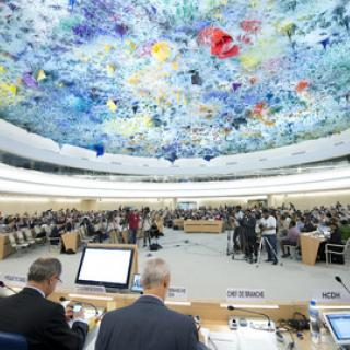 The UN Human Rights Council meets in Geneva, Switzerland