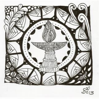 Zentangle Chalice by Cynthia Landrum 2013