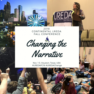 Logo for LREDA Fall Conference 2018, Changing the Narrative