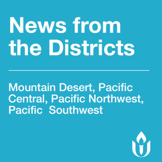 White text on PWR background says News from the Districts and then lists the four districts.