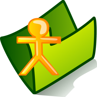 graphic of green file folder with stylized stick figure of person