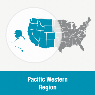 Pacific Western Region map - PNG format