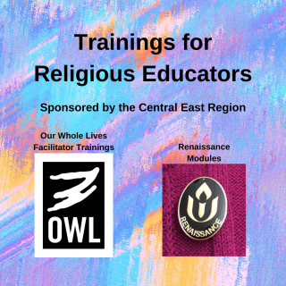 religious education trainings - Our whole lives, RE week at the sea, Renaissance modules