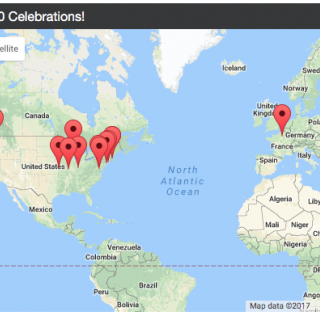 Graphic of Torday450 Celebrations Map