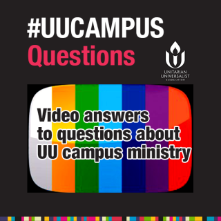 Graphic logo for #UUCampusQs video series