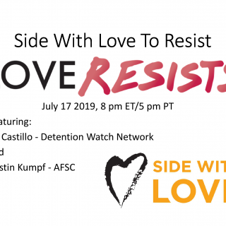 Webinar Title Card: Side With Love to Resist, July 2019