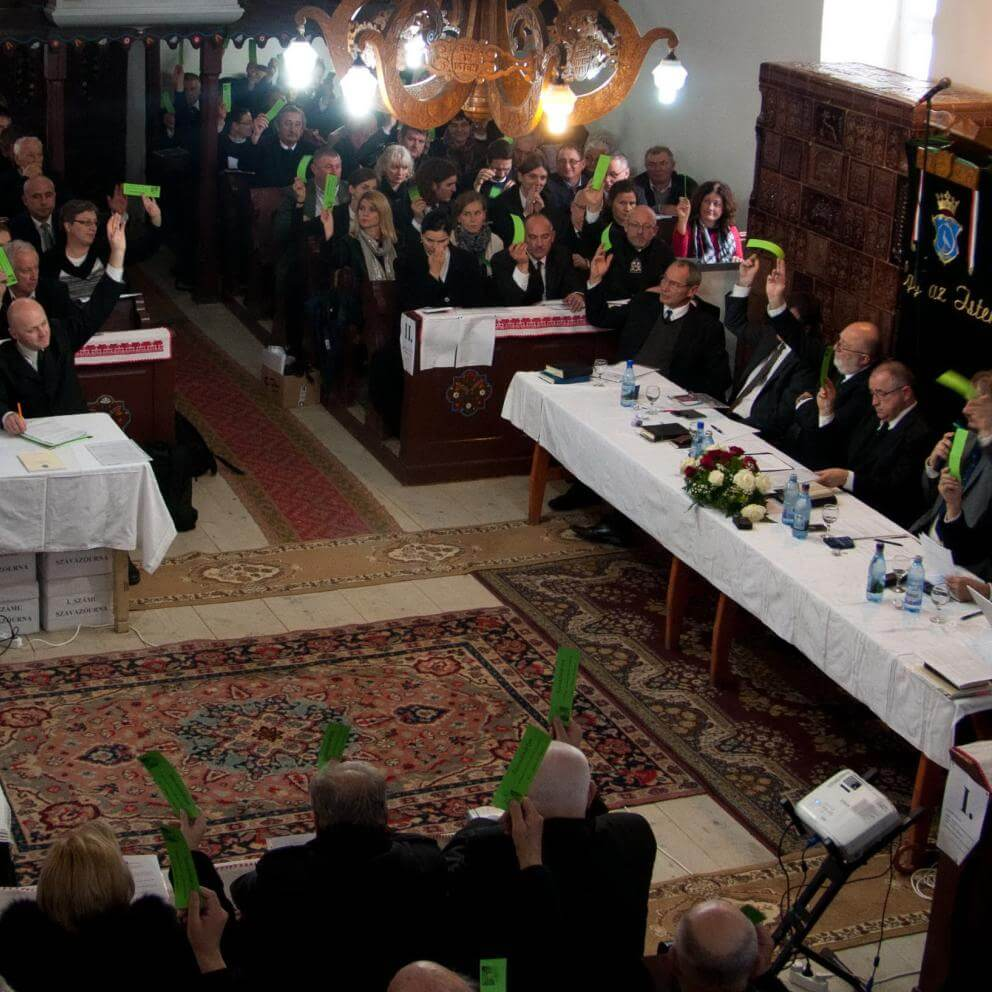 Hungarian Unitarians vote to bless only those marriages between a man and a woman, October 28, 2017.