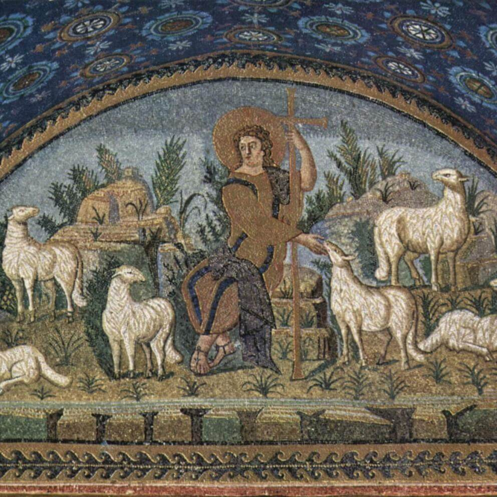 Jesus as the Good Shepherd, Mausoleum of Galla Placidia, Ravenna