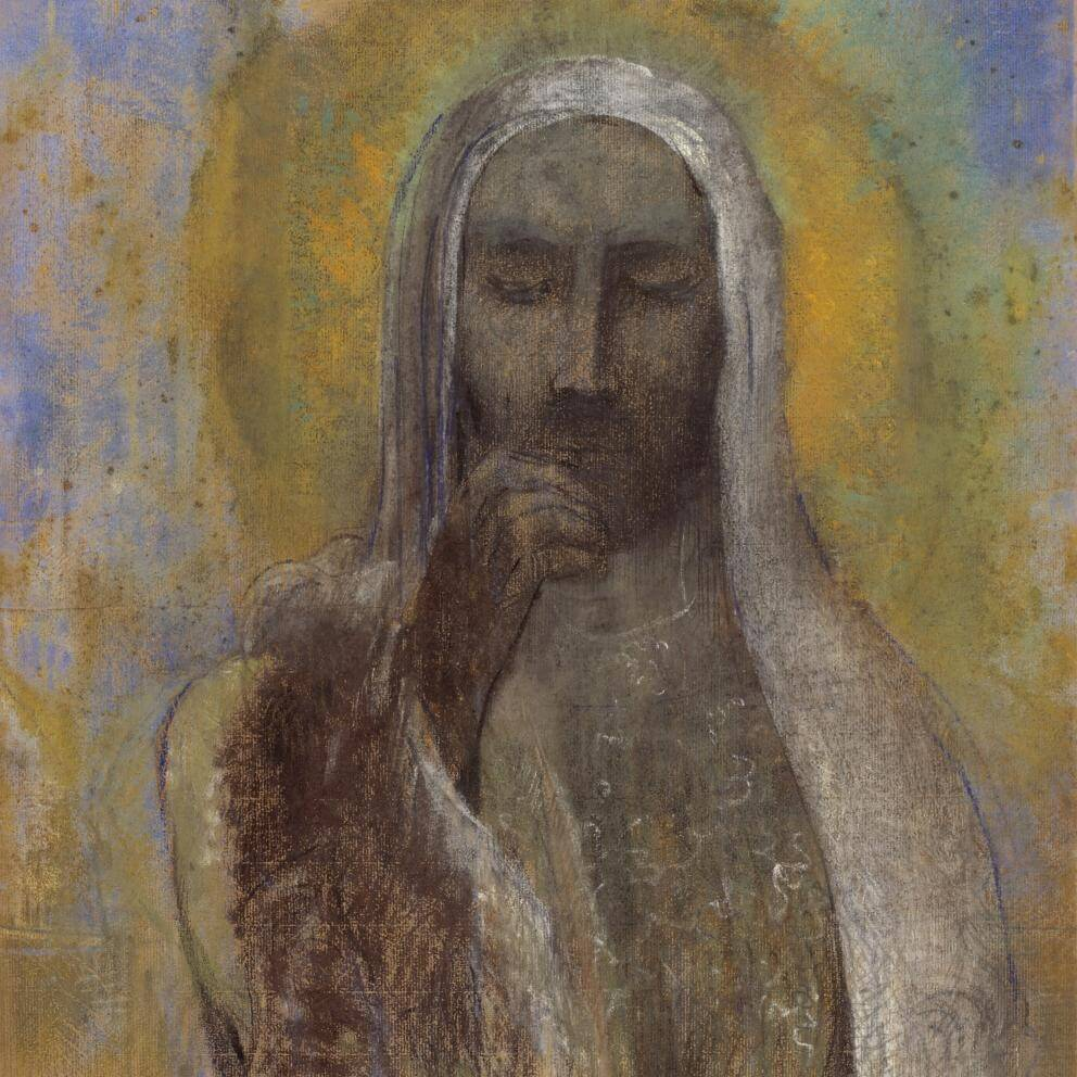 'Le Christ du silence' by Odilon Redon, between 1890 and 1907, Petit Palais, musée des Beaux-arts de la Ville de Paris