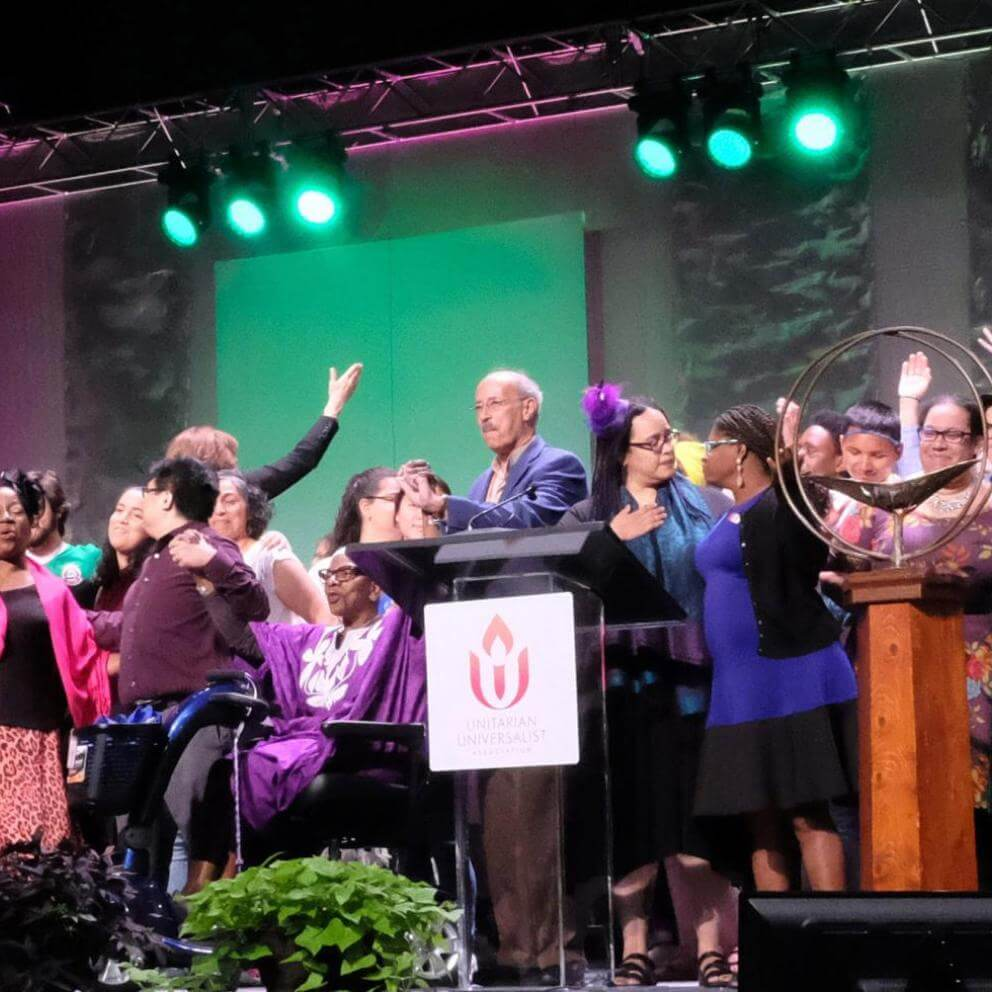 "At GA 2019, before the service, the Rev. Marta I. Valentín invited people of color, indigenous people, and LGBTQ people of all ages to ""come forward and let yourselves be seen""."