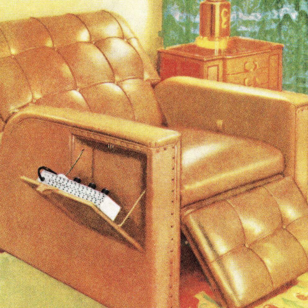 illustration of a reclining armchair.