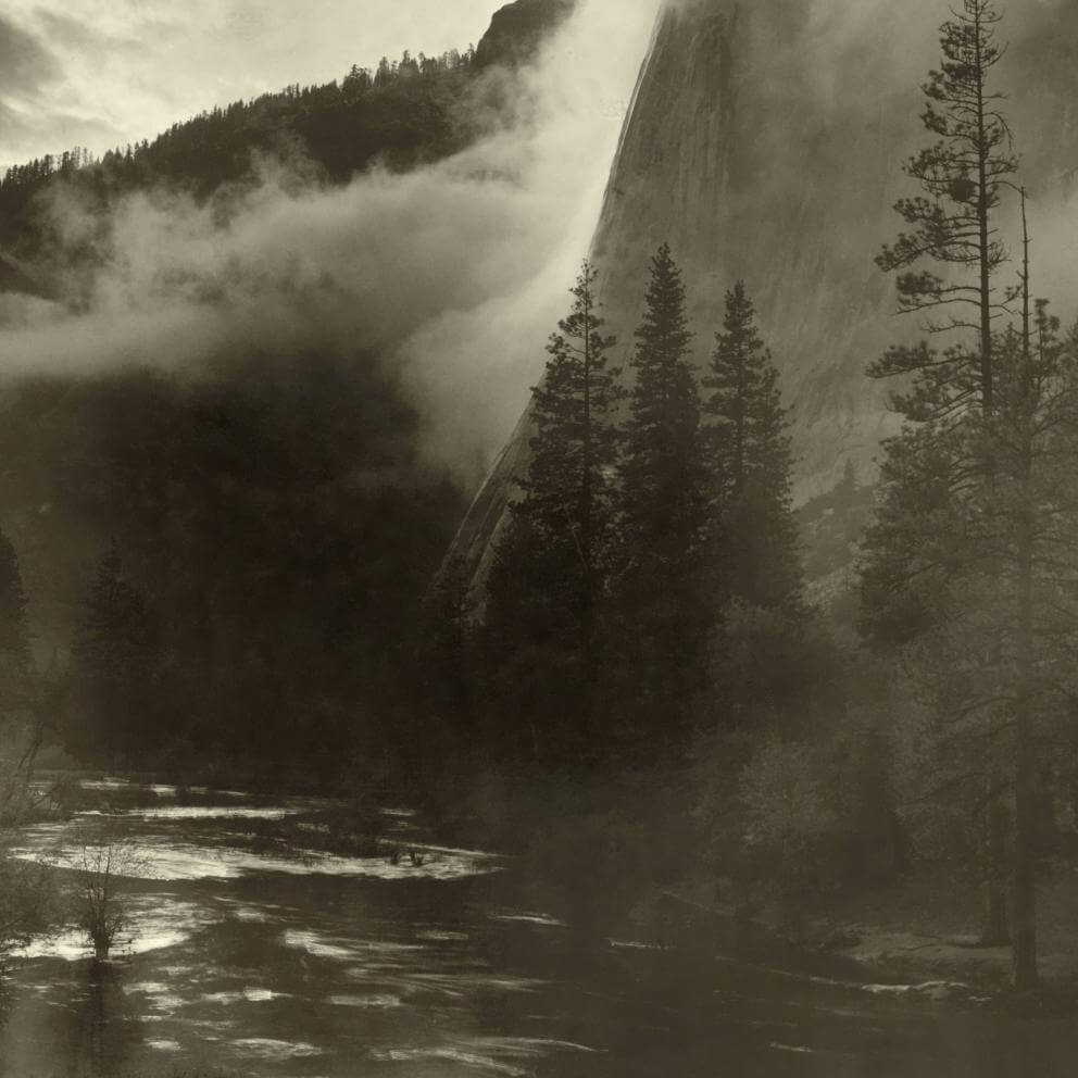 detail of El Capitan, Yosemite National Park, 1916