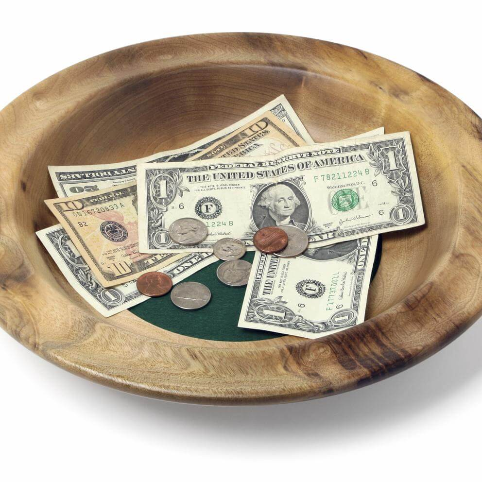 Church offering plate
