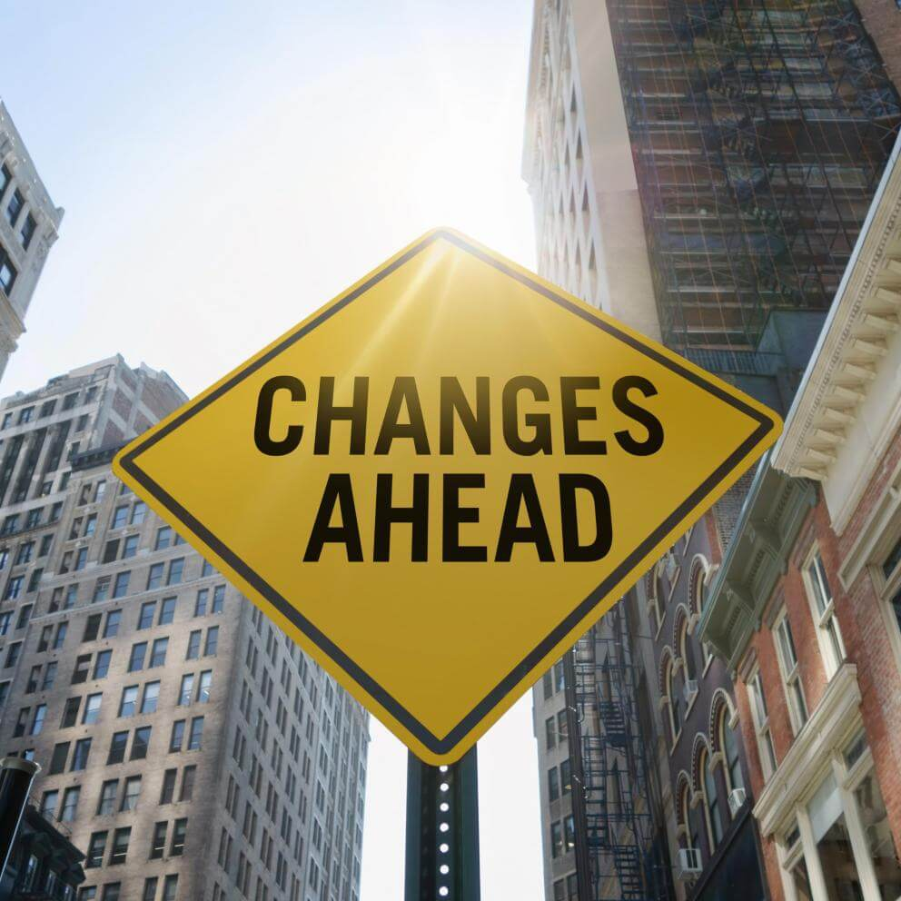 'Changes ahead' traffic sign - Stock image