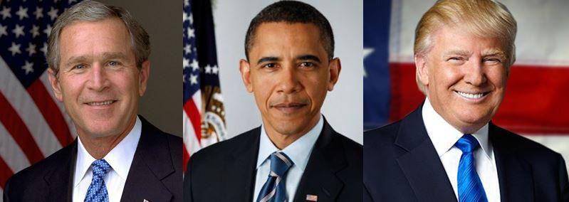 Resultado de imagem para bush, obama trump