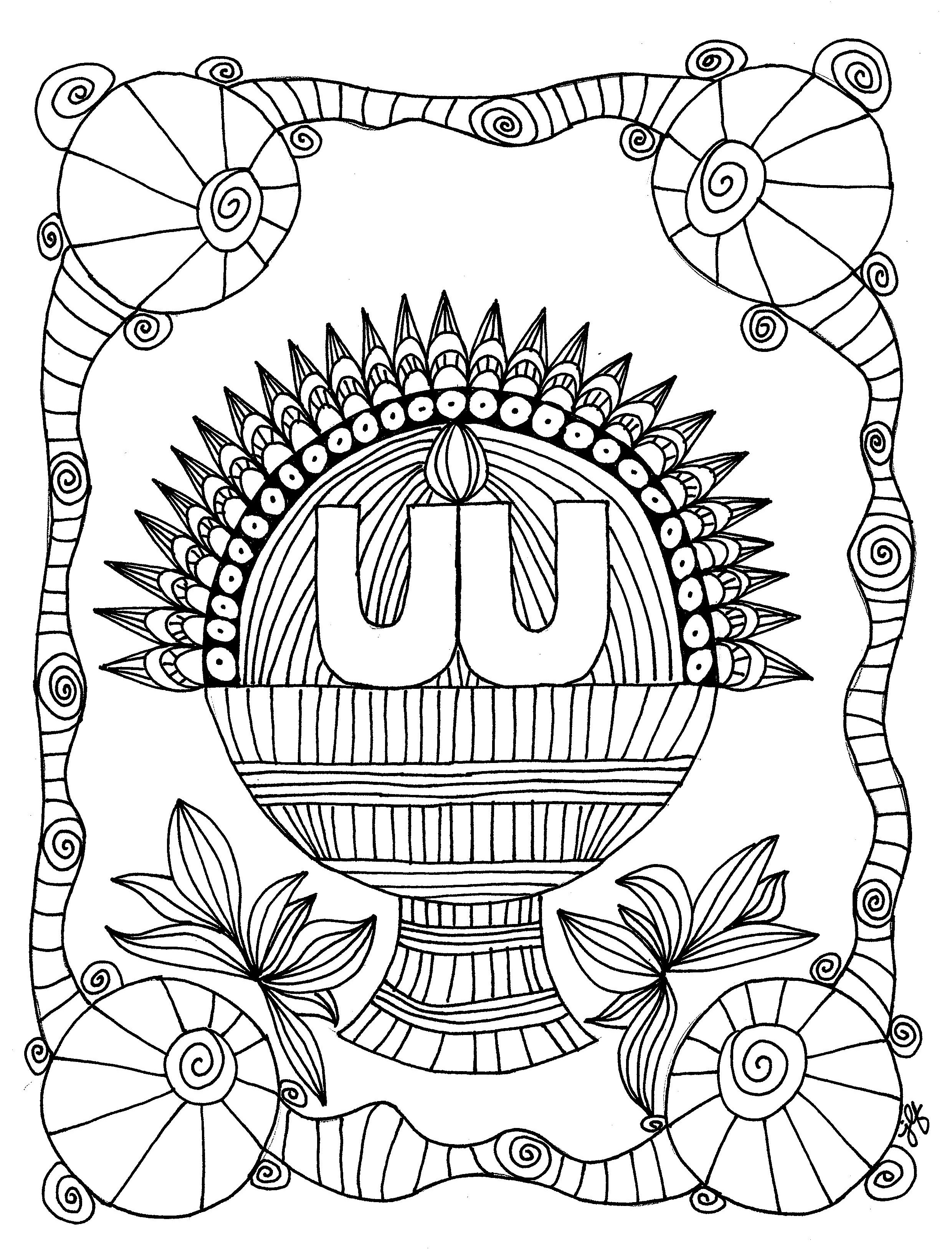 Harvest Basket Chalice Coloring Page Uua Org