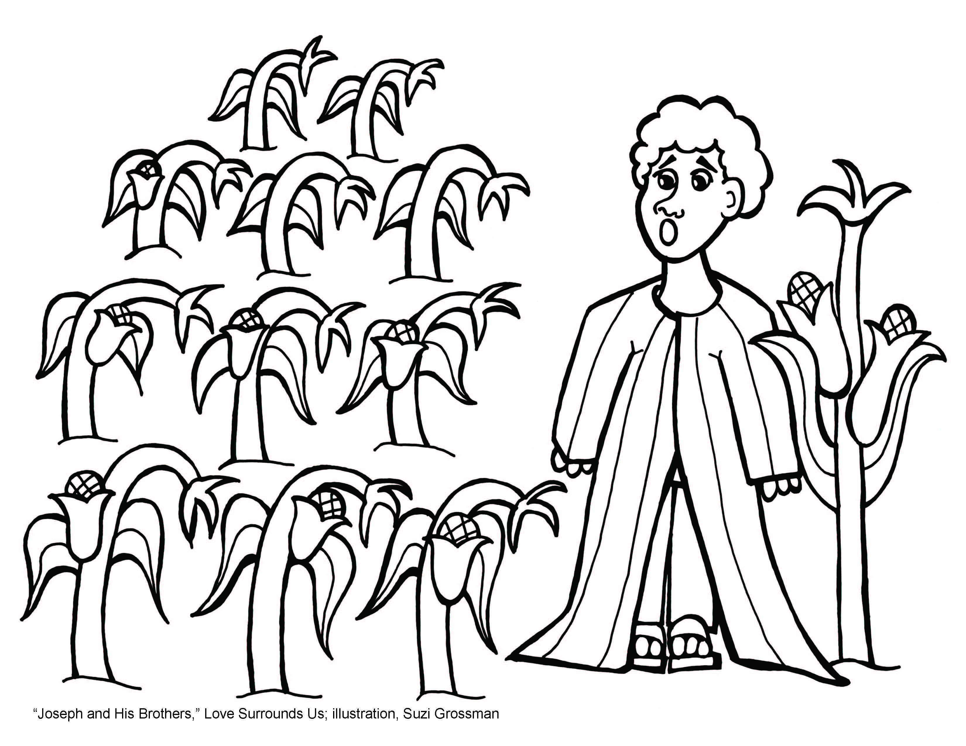 Impressive Joseph Forgives His Brothers Coloring Page With