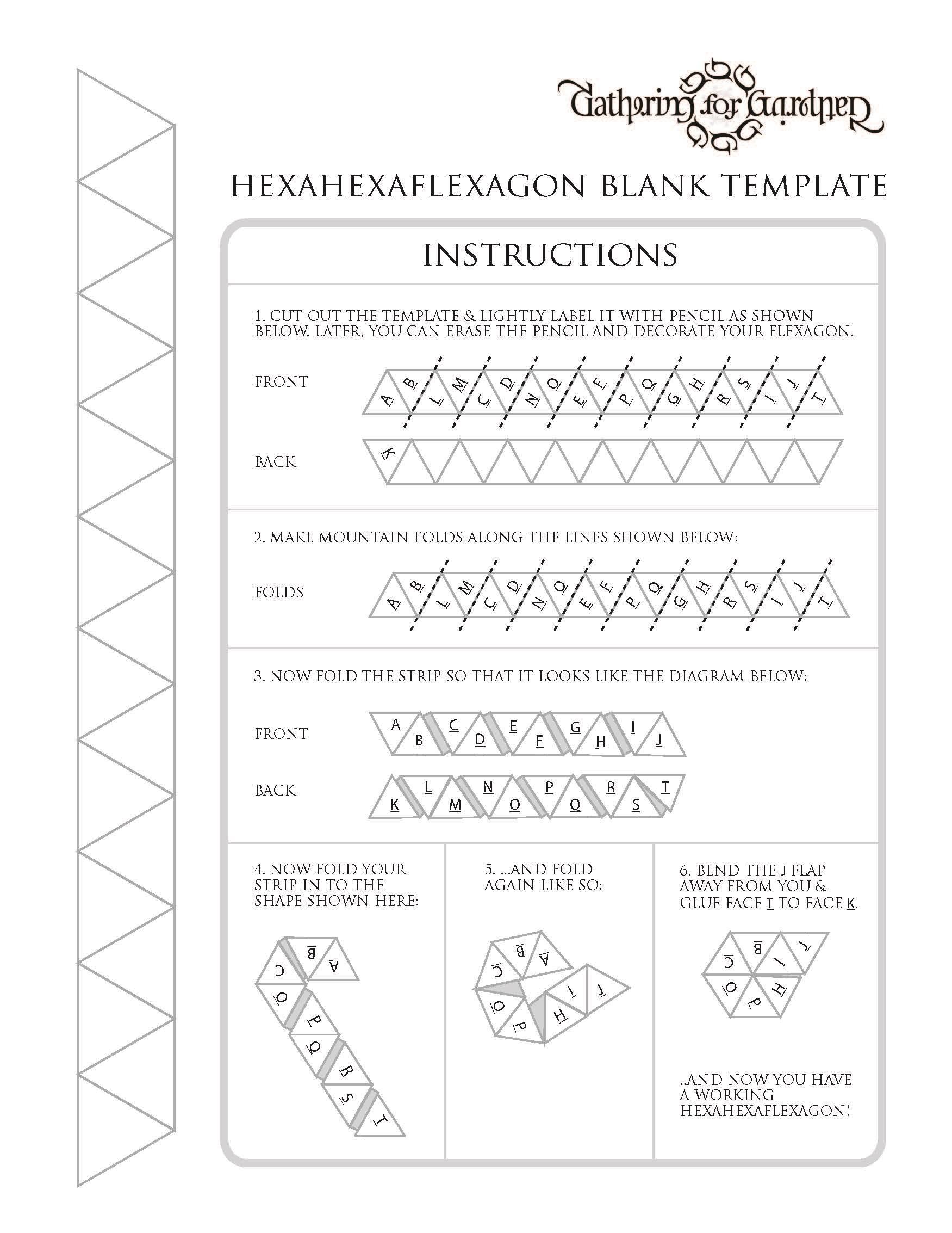Leader Resource 1 Hexaflexagon Template and Instructions – Hexaflexagon Template